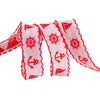 "Red Nautical on White - 7/8"" - by the yard"
