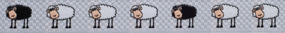 "Sheep on white - 5/8"" - by the yard"