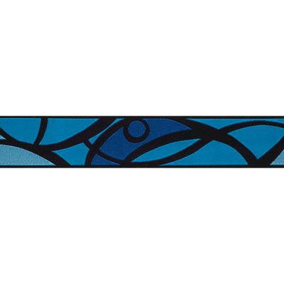 "Blue Stained Glass - 7/8"" - by the yard"