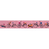 "Bicycles on Pink - 7/8"" - by the yard"