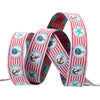 "Red Striped Nautical - 5/8"" - by the yard"