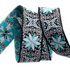 "Blue Brocade stars - 1-1/4"" - by the yard"