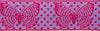 Reversible pink butterfly on purple