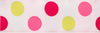 Magenta, pink, green circles on white