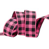 "Gingham Pink Bubblegum and Black-7/8""-by the yard"