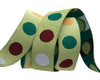 "Polka Dot  green - 5/8"" -by the yard"