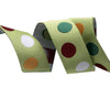 "Polka Dot  green - 7/8"" -by the yard"