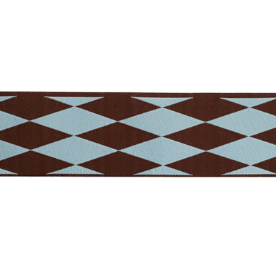 "Harlequin brown/blue - 1 1/2"" - by the yard"