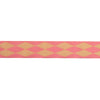 "Harlequin pink/cream - 7/8"" - by the yard"