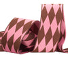 "Harlequin brown/pink - 1 1/2"" - by the yard"