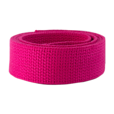 2yd-Hot Pink Heavyweight Cotton Webbing