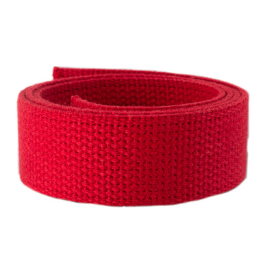 2yd-Red Heavyweight Cotton Webbing