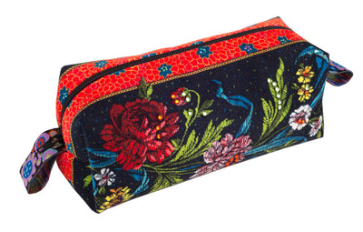 "5"" Wide Country Flowers on Black"