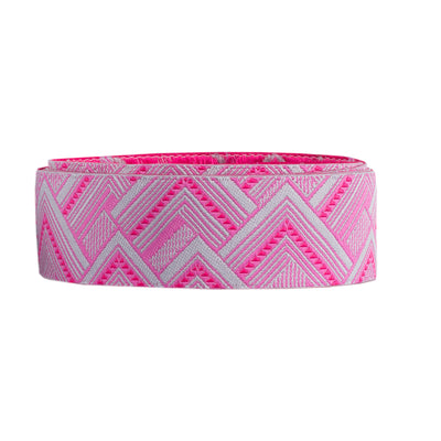 "Pink Mighty Corners  - 7/8"" -by the yard"