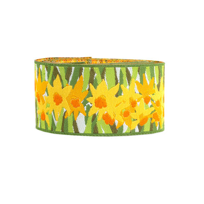 "Artistic Daffodil Ribbon - 1-1/2""- by the yard"