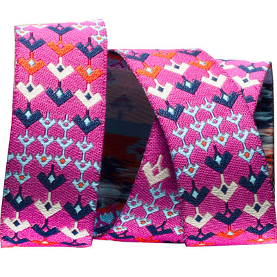 "Magenta Prismatic  - Amy Butler - 7/8"" -by the yard"
