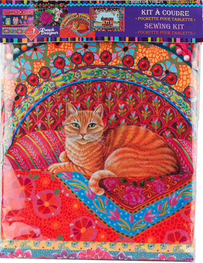 Sewing Kit Velvet I-case Ginger Cat
