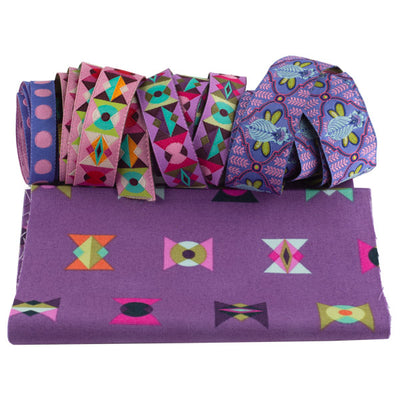 Vintage coin Pouch Ribbon Kit- Tula Pink All Stars