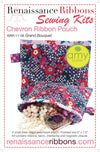 Kit Chevron POUCH Grand Bouquet by Amy Butler