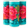 "5"" Red Peonies on Turquoise - Printed Velvet Border"
