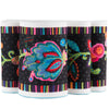 Narrow- Fleury-Floral Design on Black - Printed Velvet Border