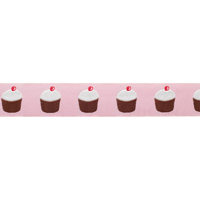 Adorable cupcakes on pink - 7/8""