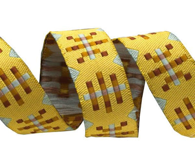 "Misguided Gingham yellow-Anna Maria Horner - 5/8"" -by the yard"