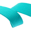 "1.25"" Aqua Heavyweight Cotton Webbing-per yard"