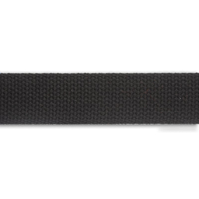 2yd-Black Heavyweight Cotton Webbing