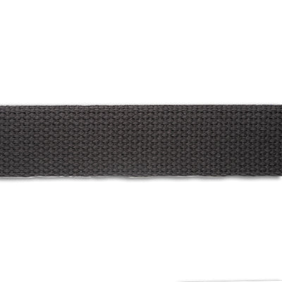 2yd-Charcoal Heavyweight Cotton Webbing