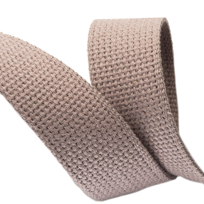 2yd-Gray Cotton Webbing