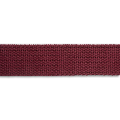 "1.25"" Maroon Heavyweight Cotton Webbing-per yard"