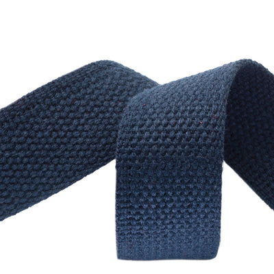 "1.25"" Navy Heavyweight Cotton Webbing-per yard"