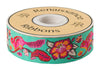 "Pink-Orange on Turquoise Chipmunk ribbon-TULA PINK - 1-1/2""- by the yard"