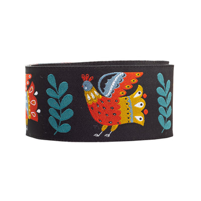 "Folk Happy Birds-Dinara-1-1/2""-by yd"