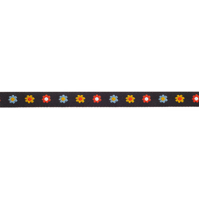 "Tiny Flowers-Blk-Dinara -3/8""-by the yd"