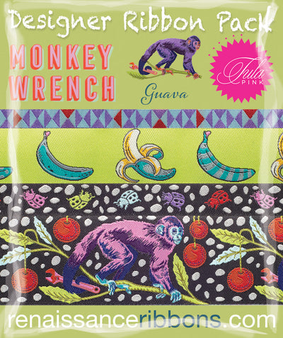 Tula Pink-Monkey Wrench Guava-Green