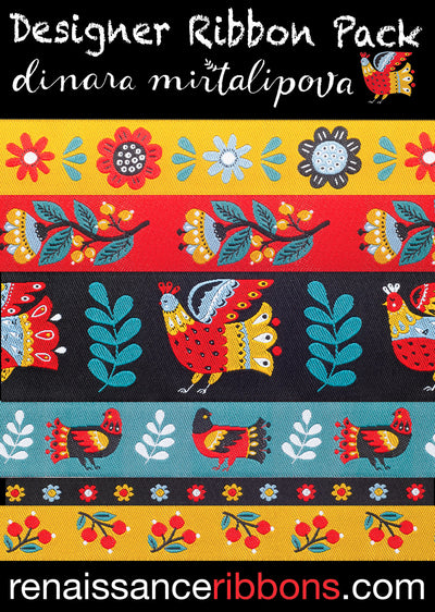 DP-84Dinara Mirtalipova Folk Birds Ribbon Pack
