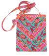 Kit Chevron Ribbon Bag: Chipper Pink on aqua