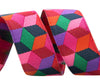 "Tumbling Blocks in red, violet and pink by Kaffe Fassett - 5/8"" -by the yard"