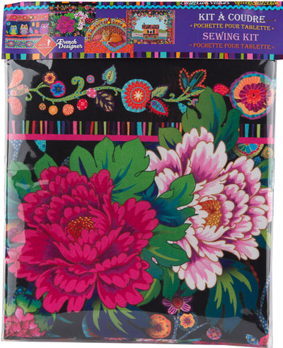 Sewing Kit Velvet I-case Peonies