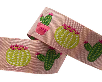 "Cactus on camel by Jessica Jones - 7/8"" -by the yard"