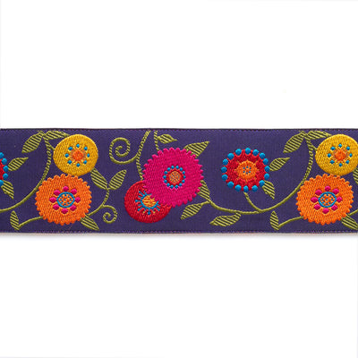 Flowery Suzani in Purple - LFNT - 1 1/2""