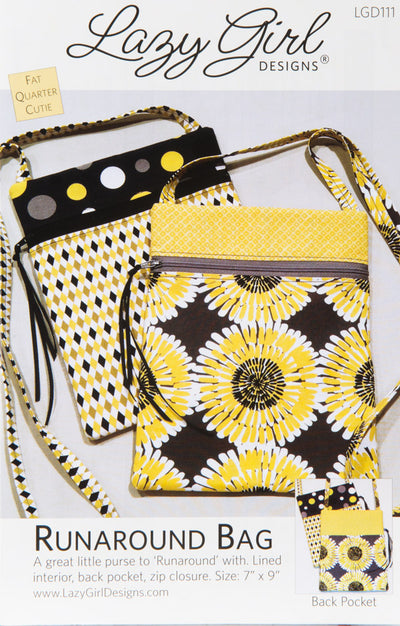 P-Lazy Girl Runaround Bags pattern