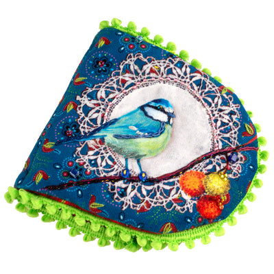 Sewing Kit Velvet- Velvet Neddle Book Painted Birds