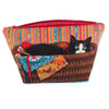 Sewing Kit Velvet- Hercule amongst the Stripes Sewing Case
