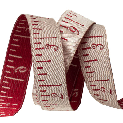 "Tape Measure French Pearl & Red - 5/8"" - French General"
