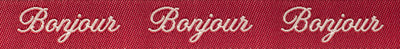 "Bonjour Pearl on Red - 5/8"" - French General - by the yard"
