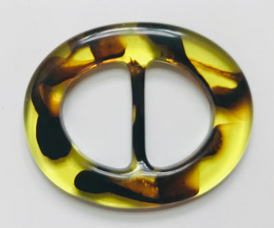 Tortoise Lucite Belt Buckle