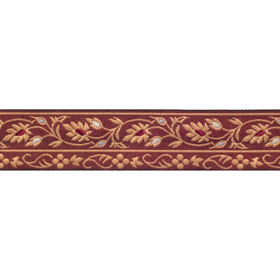Indian Mughal floral gold and brown - 1""